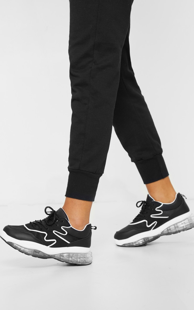 Black Clear Bubble Sole Trainers 1