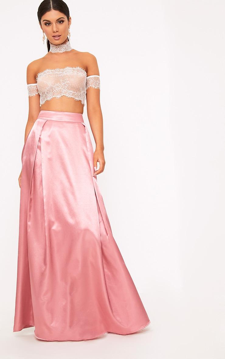 Ruthie Rose Satin Maxi Prom Skirt  1