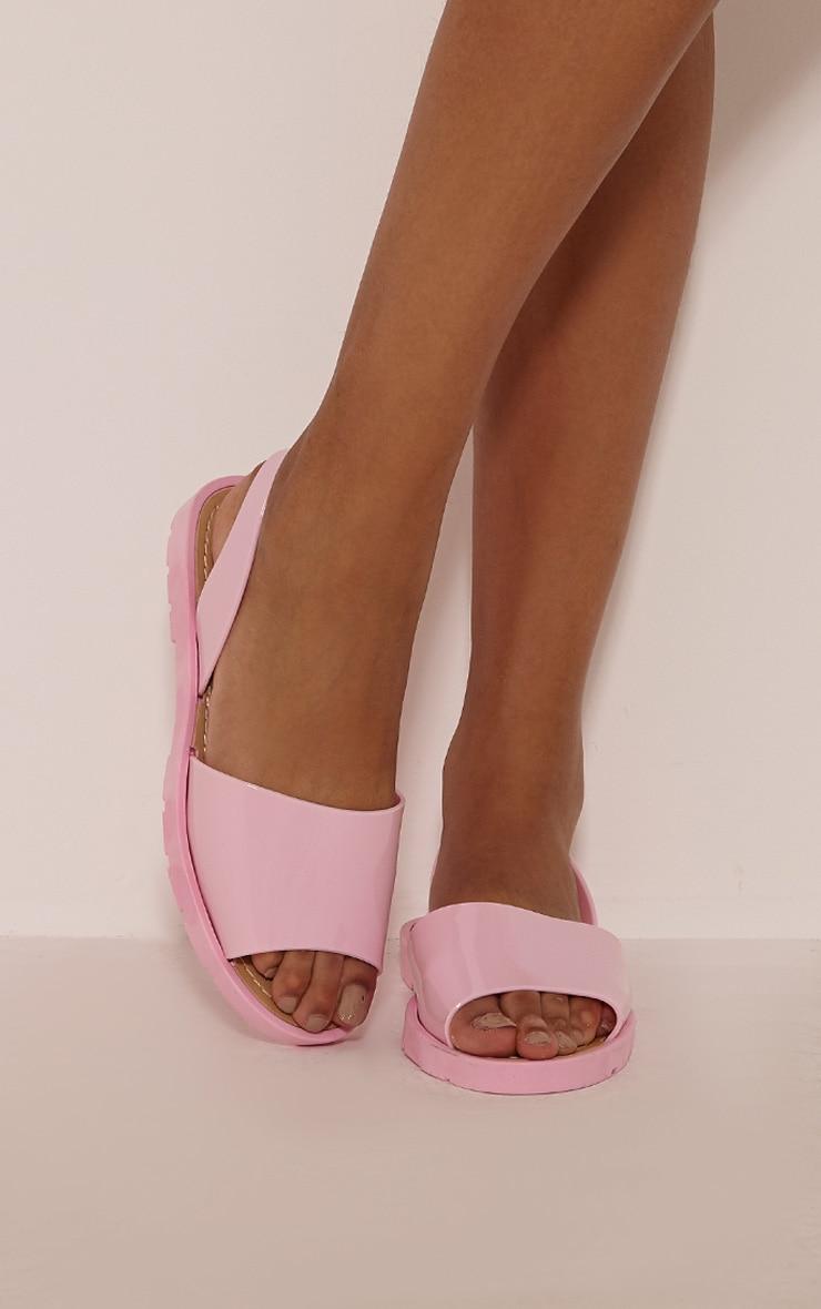 Mireya Pink Jelly Espadrilles 1