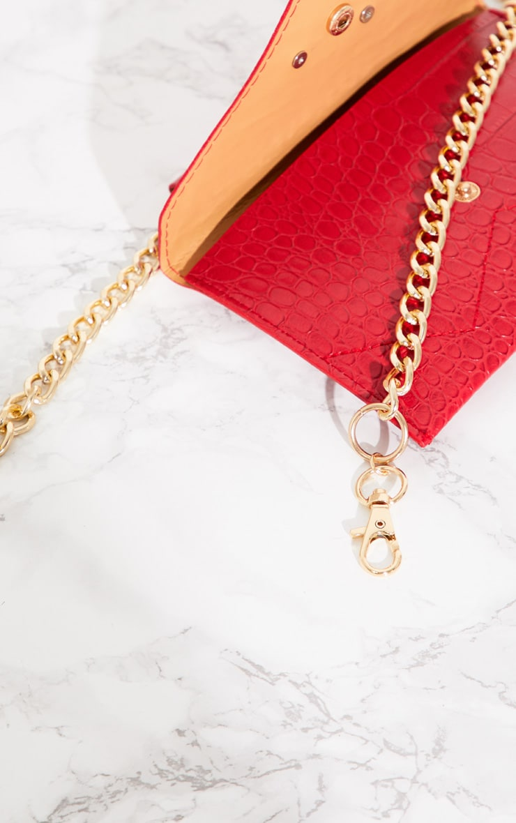 Red Dragon Chain Belted Bum Bag 4