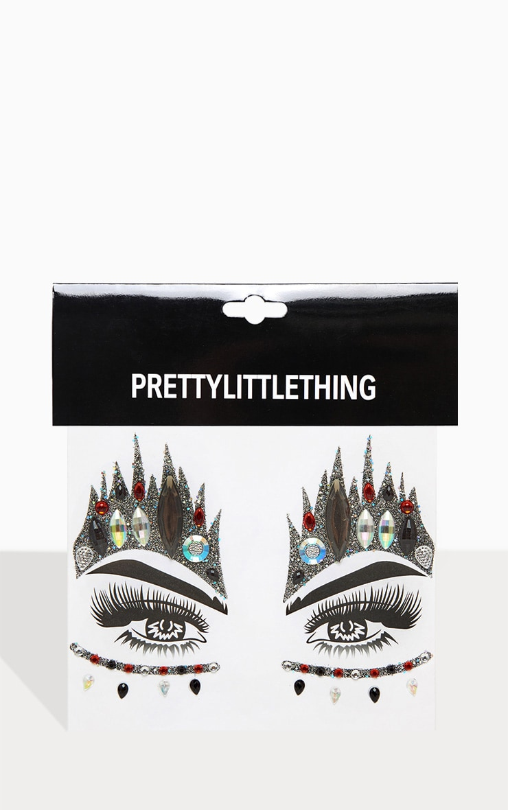 PRETTYLITTLETHING Queen of Hearts Face Stickers 2