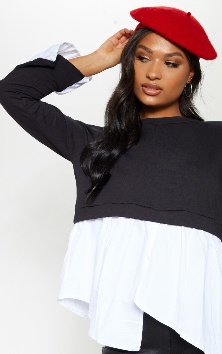 Black Peplum Sweater 5