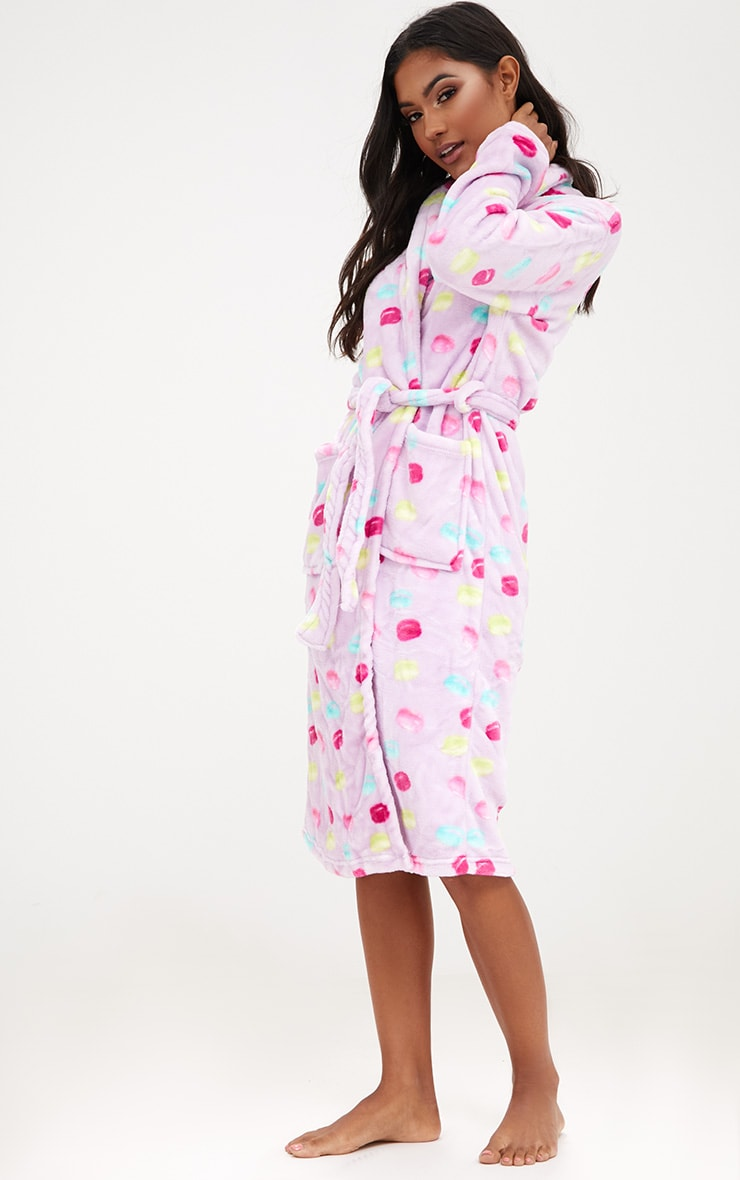 Lilac Macaroon Dressing Gown 3