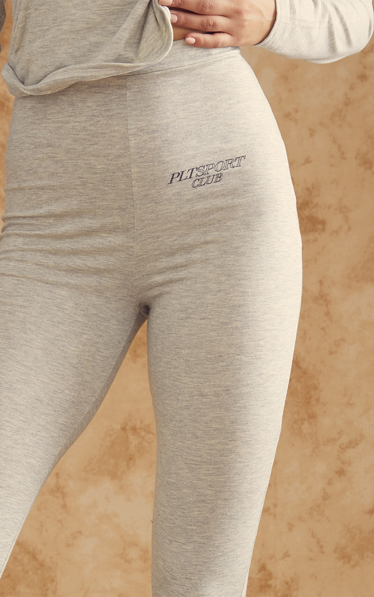 Grey Soft Yoga Leggings 4