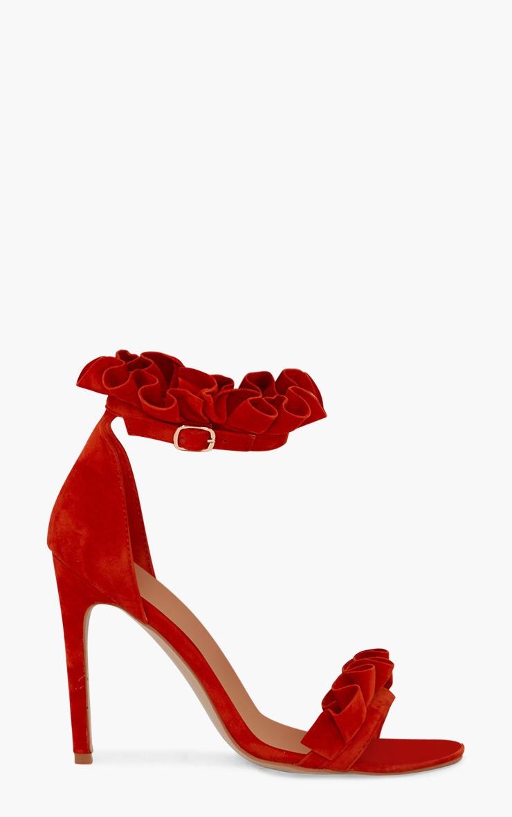 Orange Frill Strap Heels 3