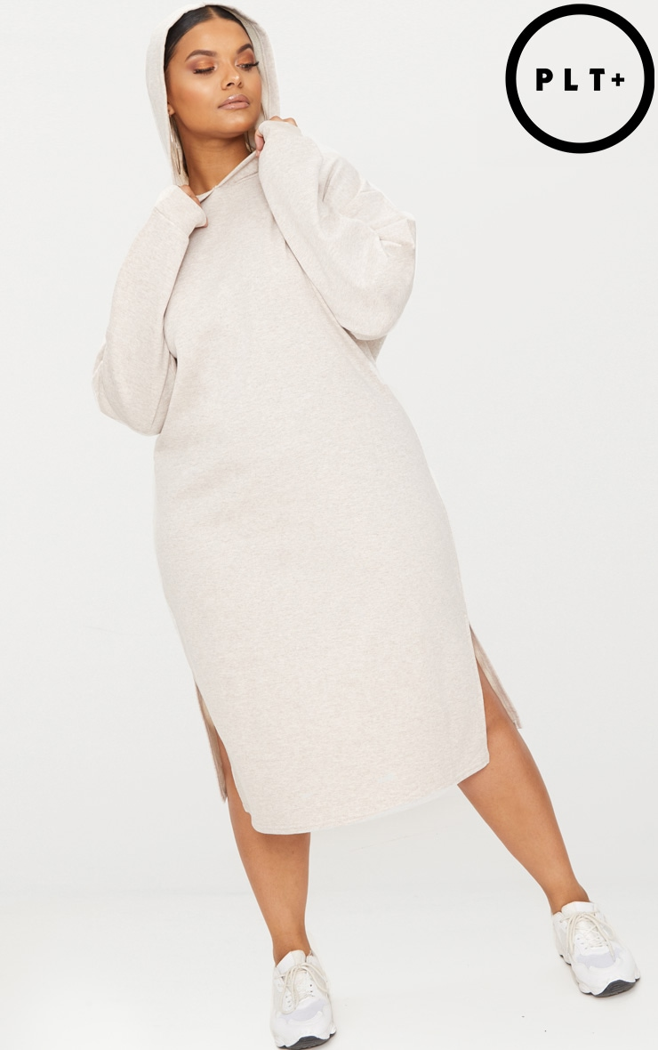 Plus Stone Midi Sweater Dress 1
