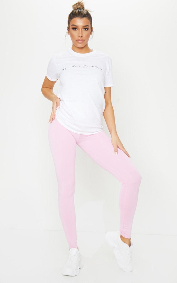 Pink High Waist Gym Legging 1