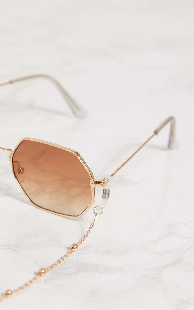 Gold Beaded Sunglasses Chain 5