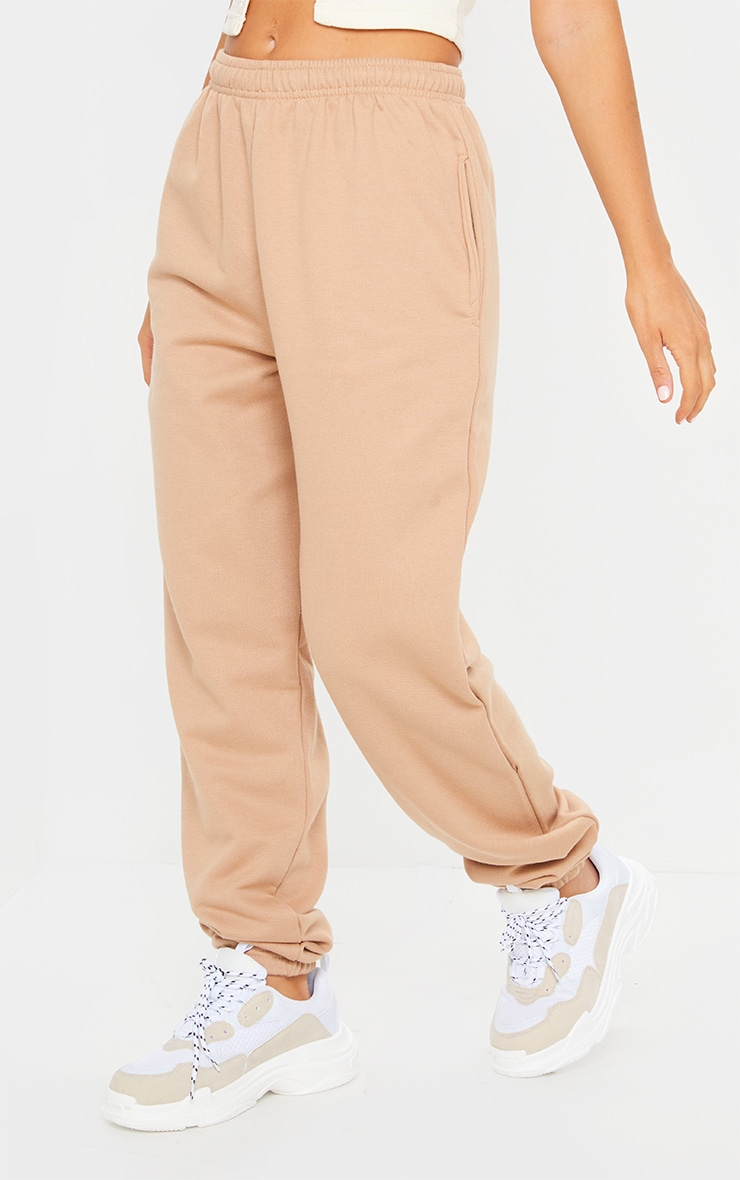Pantalon de jogging camel clair casual 2