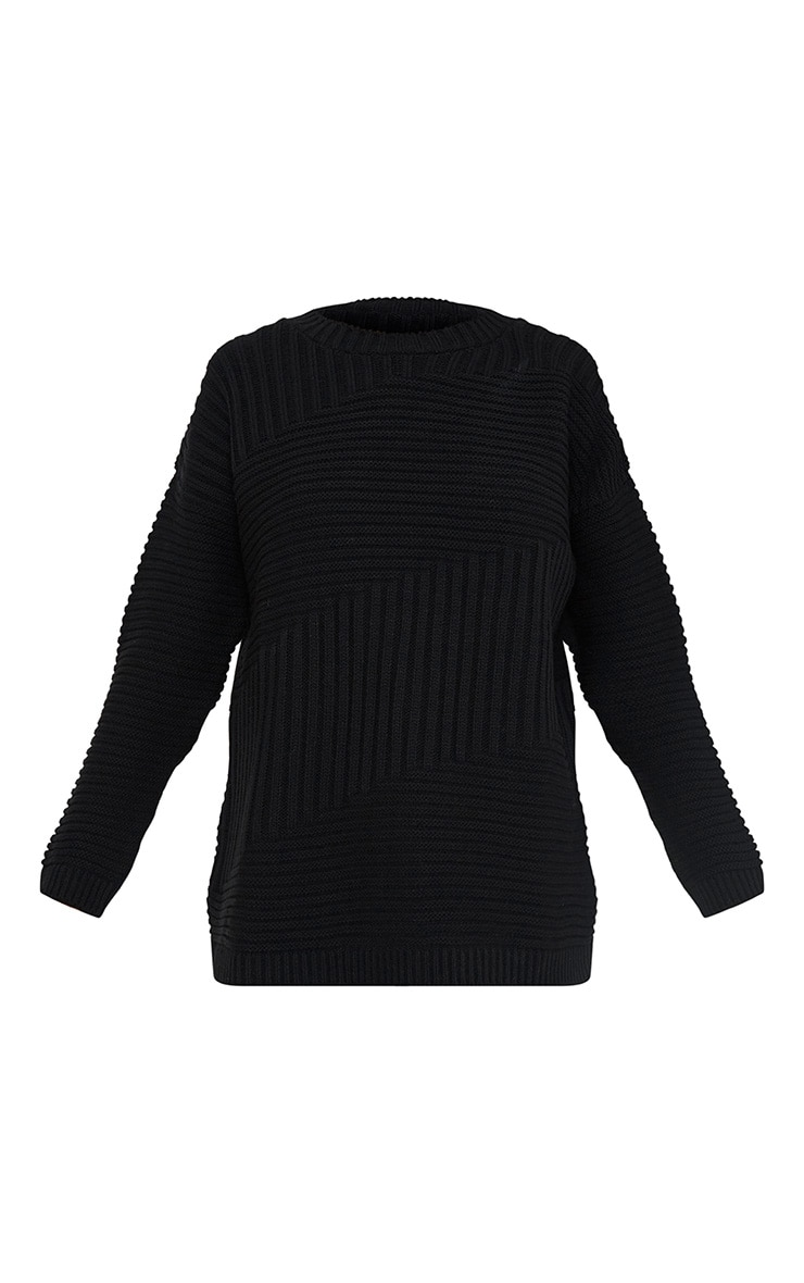Emersyn Black Two Way Chunky Knit Jumper 3