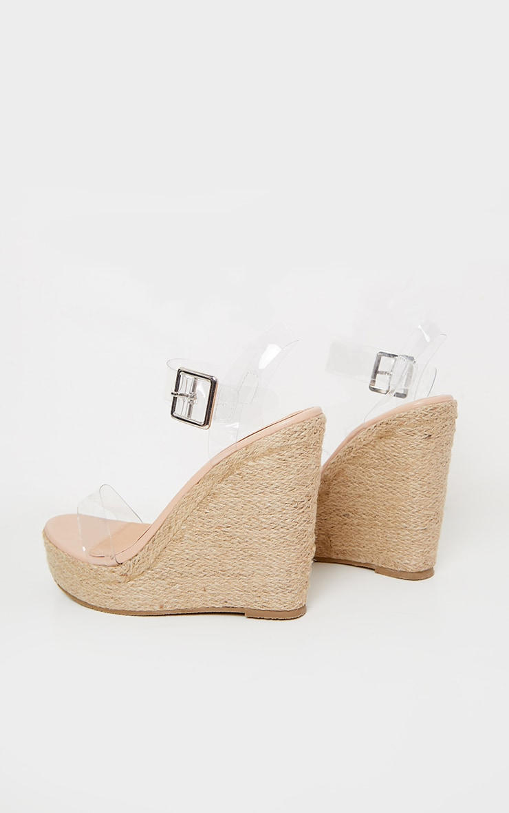 Clear Strap High Wedge 4