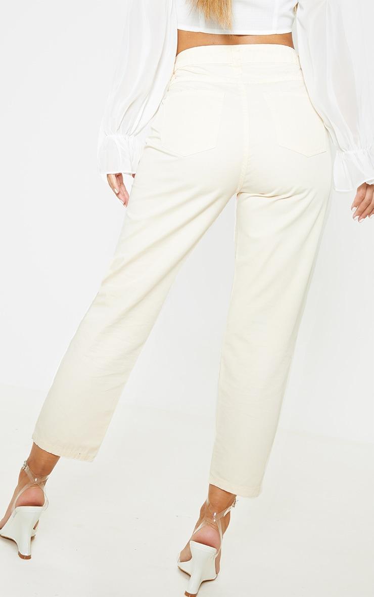 Petite Ecru Slim Leg Ankle Grazer Jeans 3