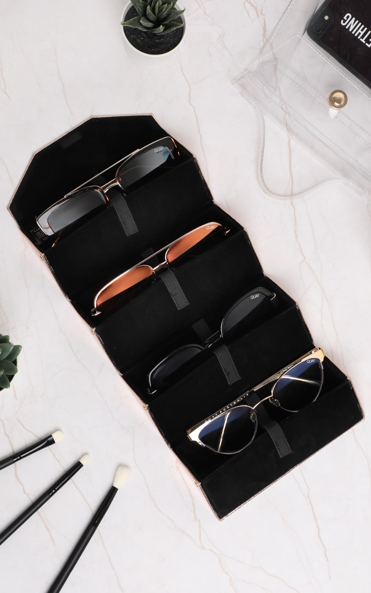 QUAY AUSTRALIA Rose Gold 4 Piece Fold Up Case 2