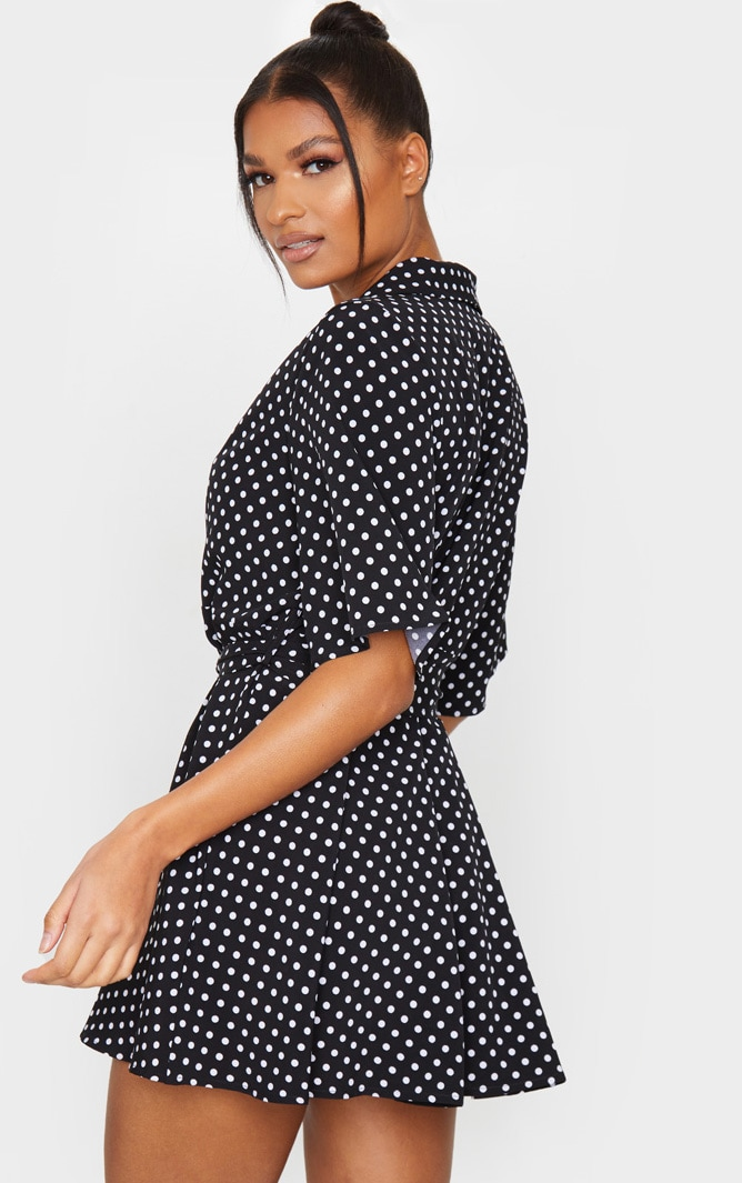 Black Polka Dot Tea Dress 2