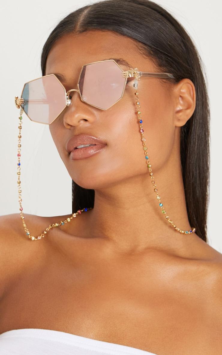 Multi Colour Gem Sunglasses Chain