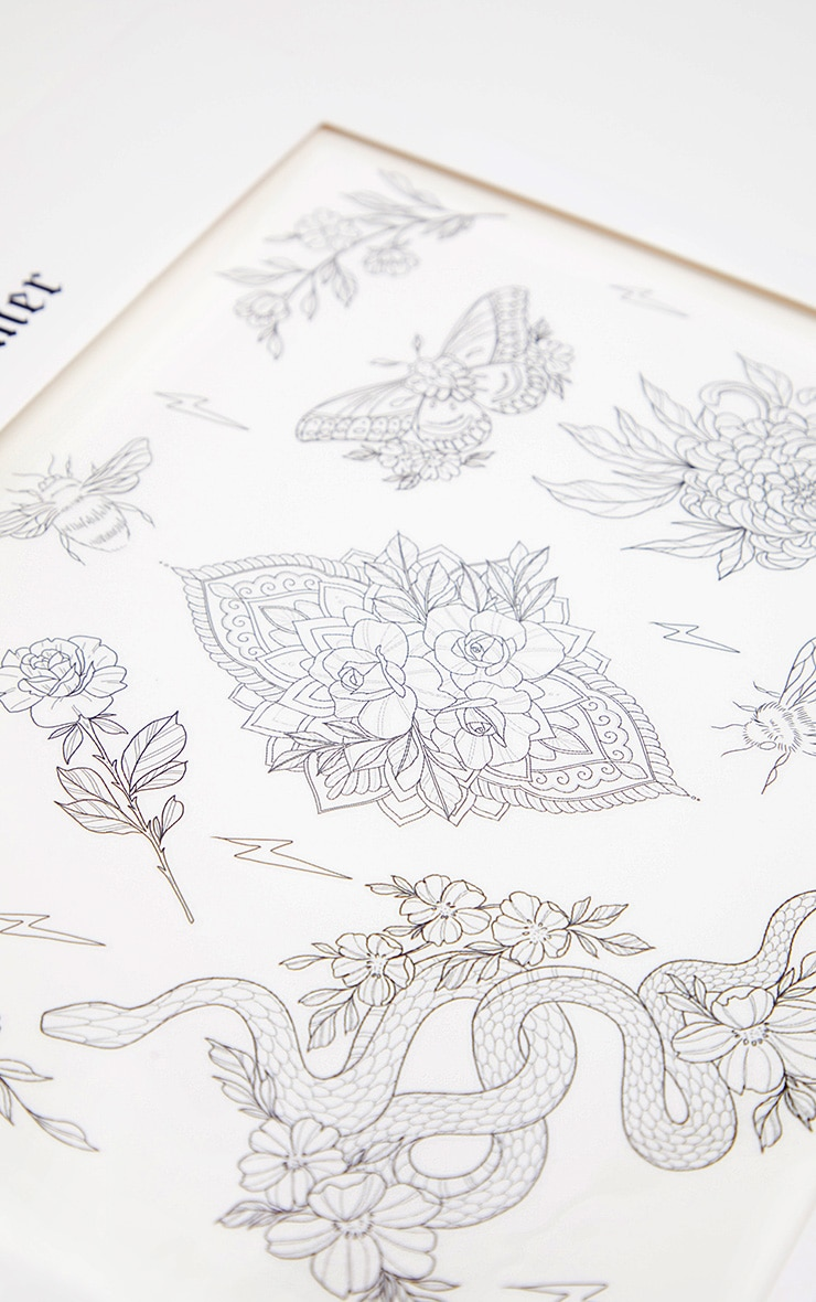 Shrine x Sophie Rimmer Flowers Temporary Tattoos 2