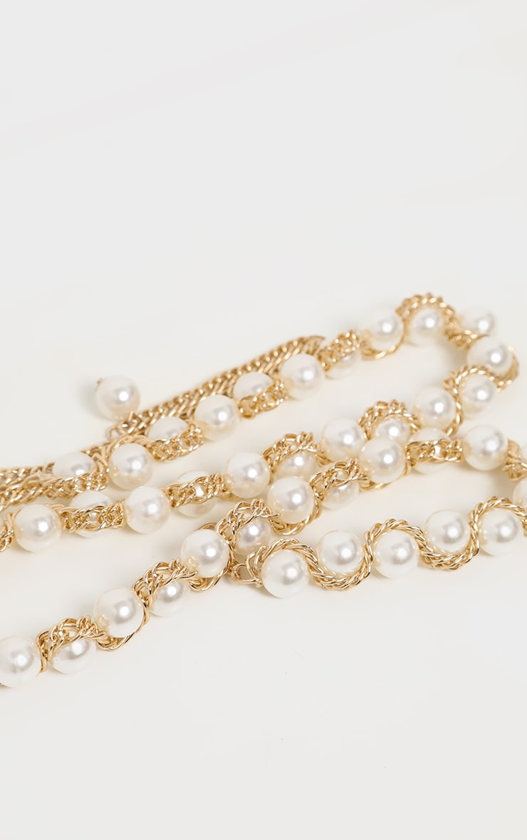 Gold Pearl Chain Belt 3