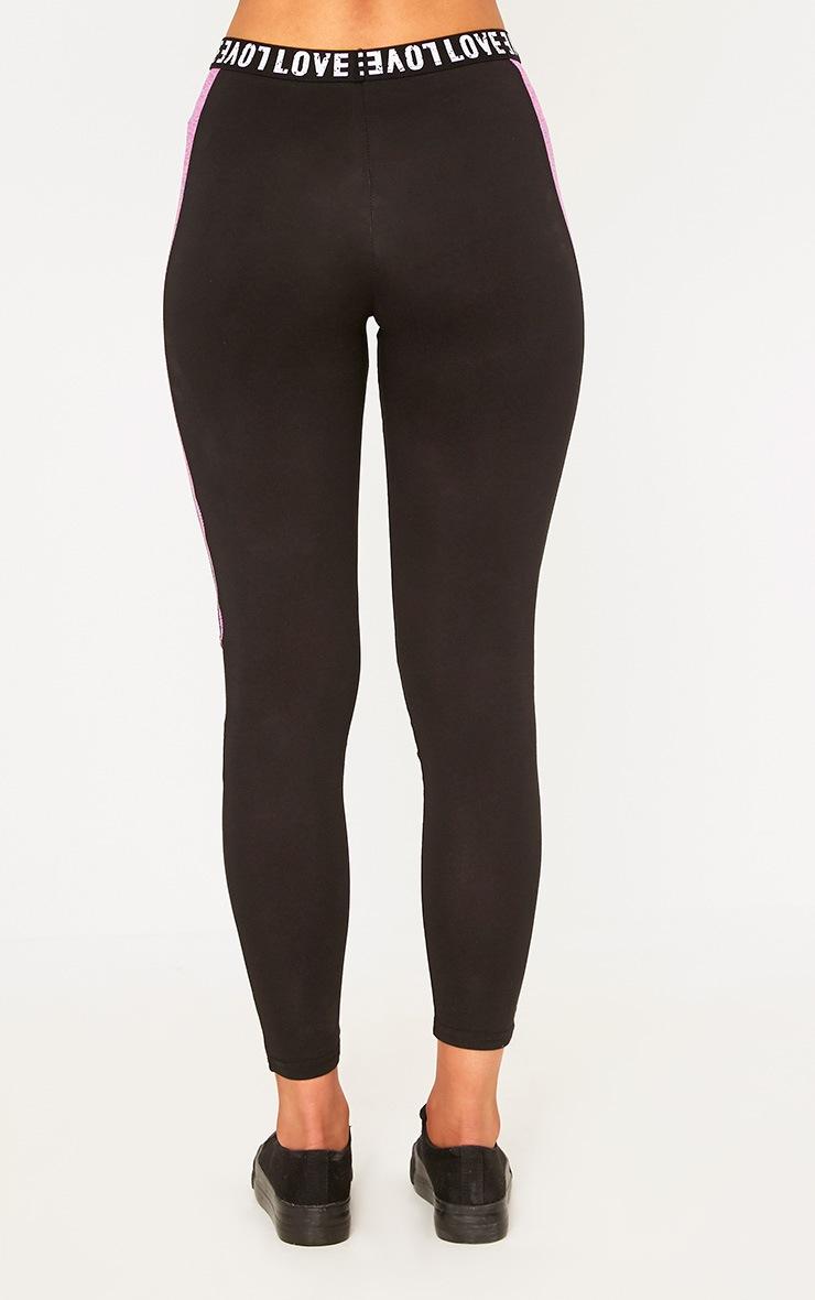 Pink Melange Gym Leggings 4