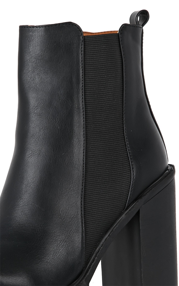 Black Chunky Cleated Sole Chelsea Boot 4