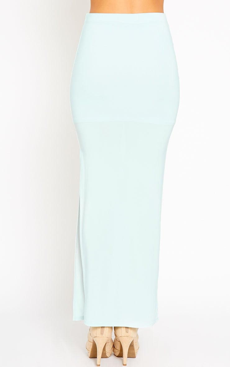 Helsa Mint Slinky Split Maxi Skirt 4