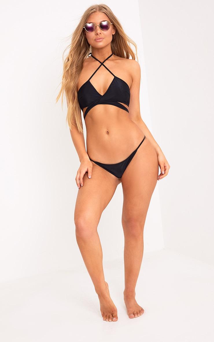 Halley Black Bikini Bottoms 5