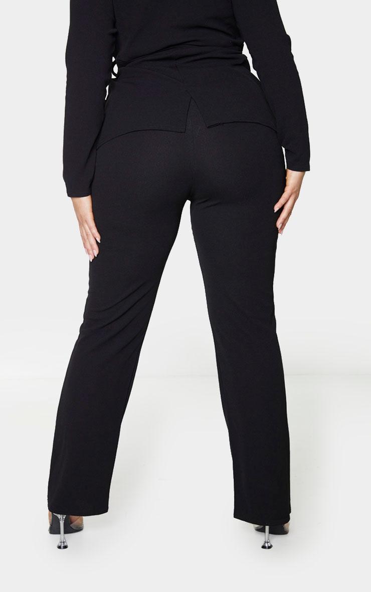 Plus Black Straight Leg Suit Pants 3