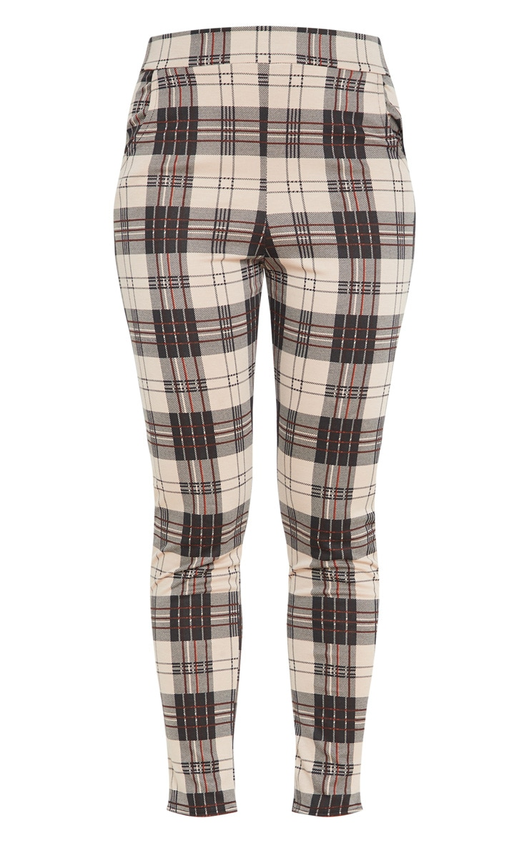 Stone Checked Skinny Pants 3