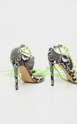 Snake Hiker Lace Up Tie Heeled Sandal 4