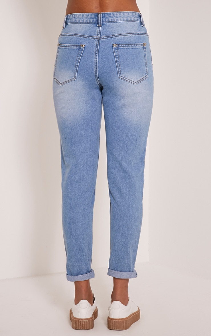 Light Blue Wash Mom Jean   6