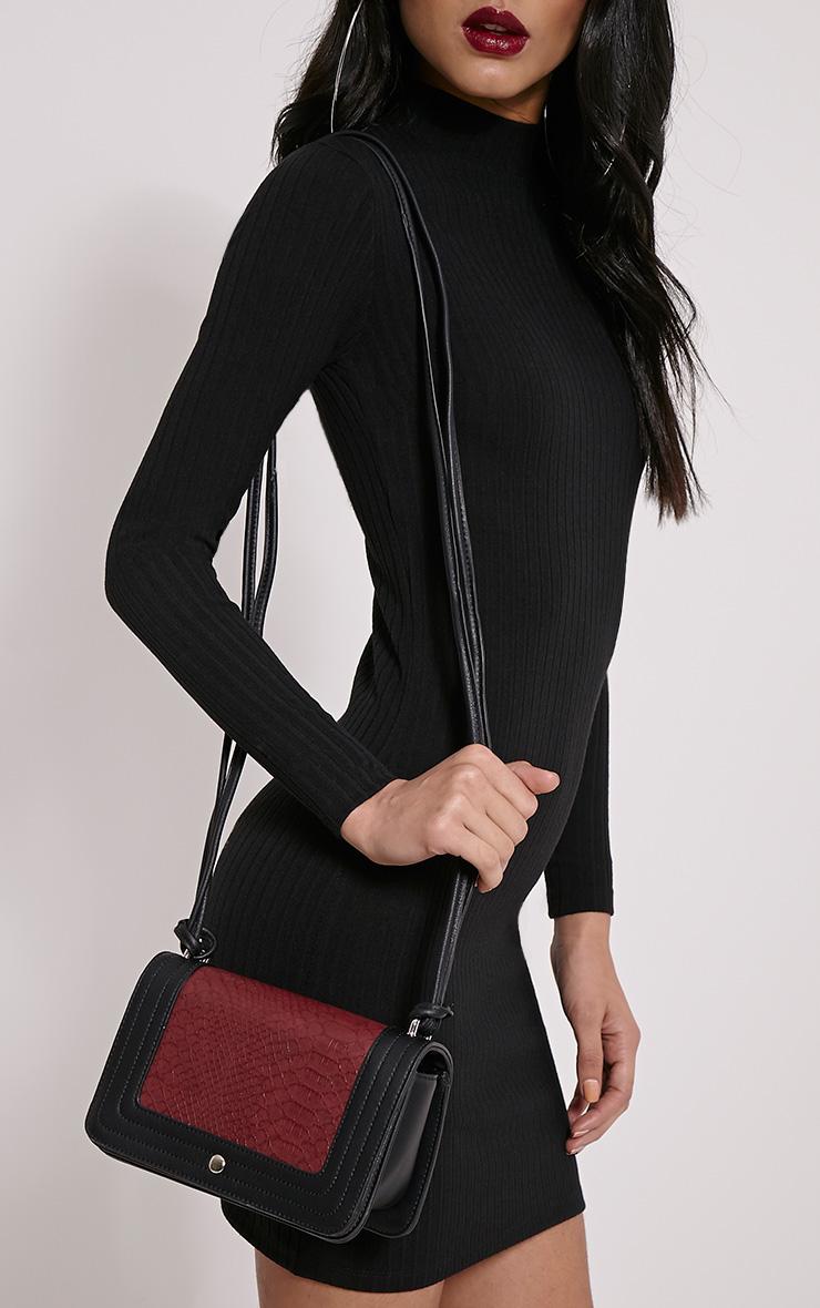 Jaya Burgundy Strap Shoulder Bag 4