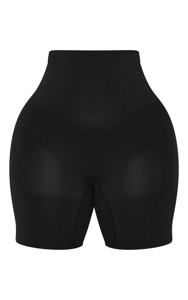 Plus Black Seamless High Waist Control Shapewear Shorts 3