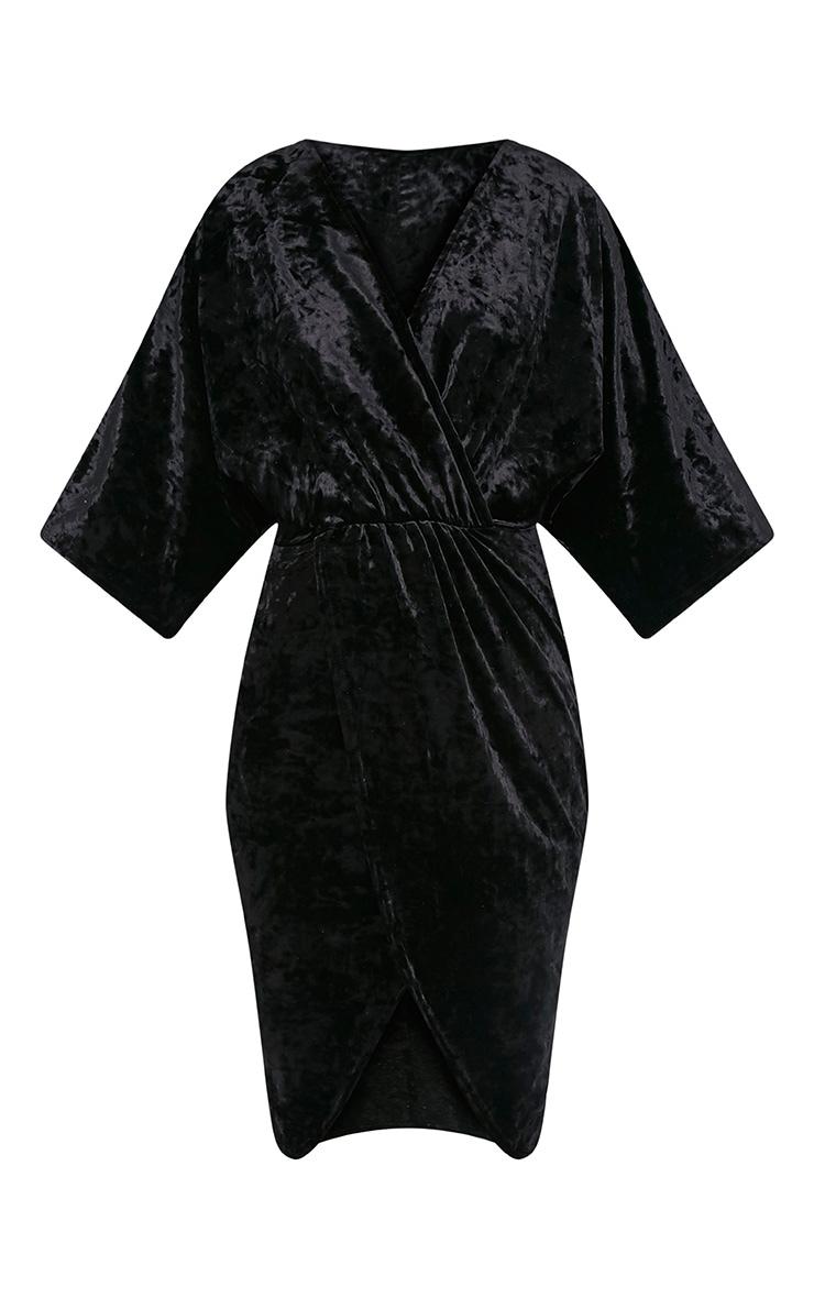Archer robe midi cape velours noire 3