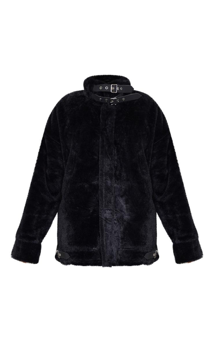 Black Faux Fur Aviator 3