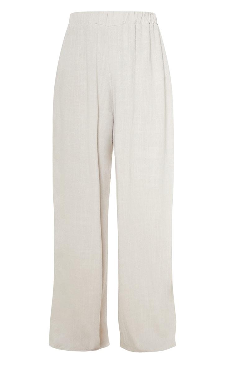 Petite Light Grey Wide Leg Trousers 3