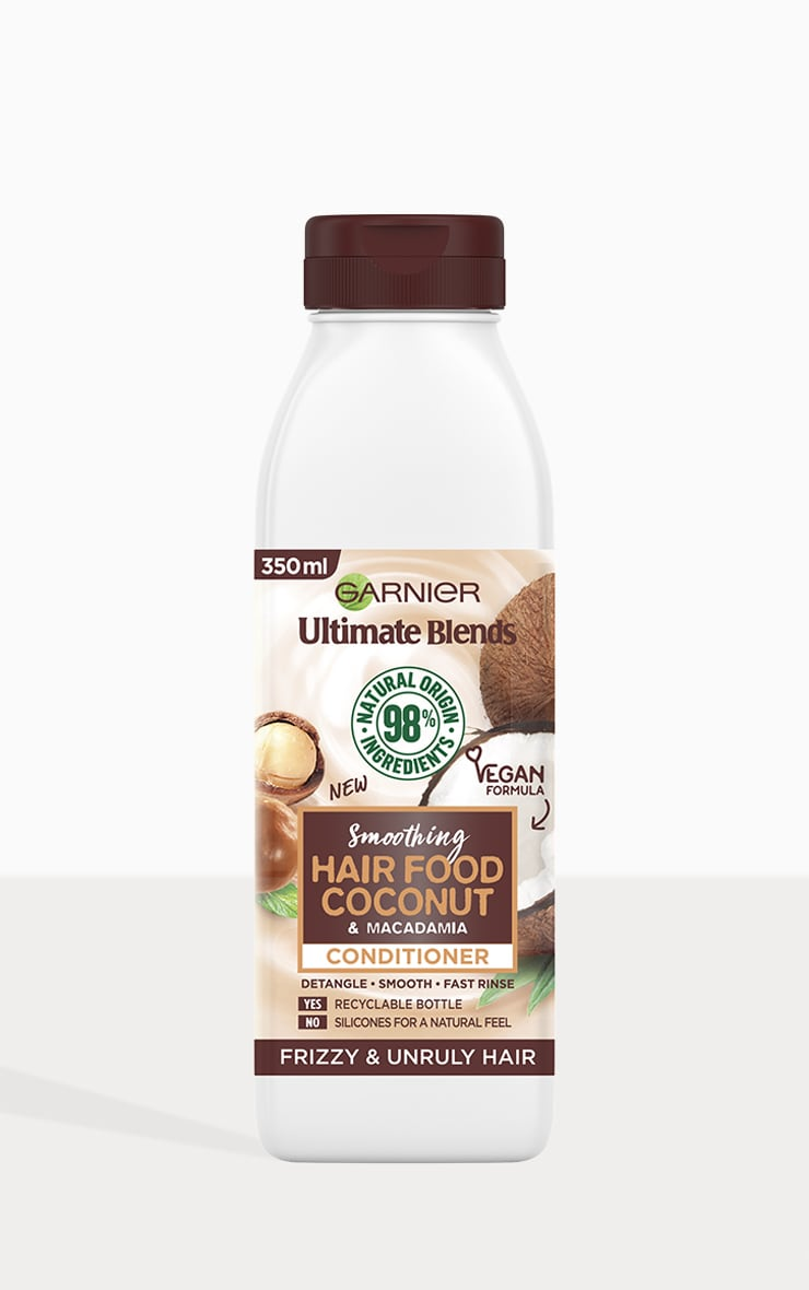 Garnier Ultimate Blends Smoothing Coconut Conditioner For Frizzy Hair 350ml 2