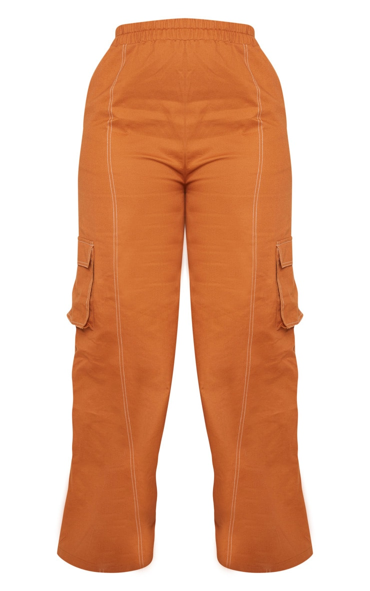 Plus Toffee Utility Pocket Wide Leg Trousers 3