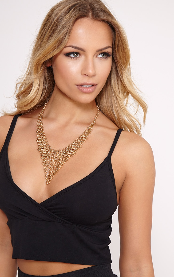 Veda Gold Chainmail Necklace 3