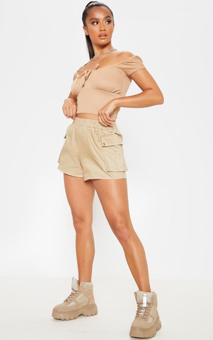 Petite Stone Cargo Pocket Shorts 1