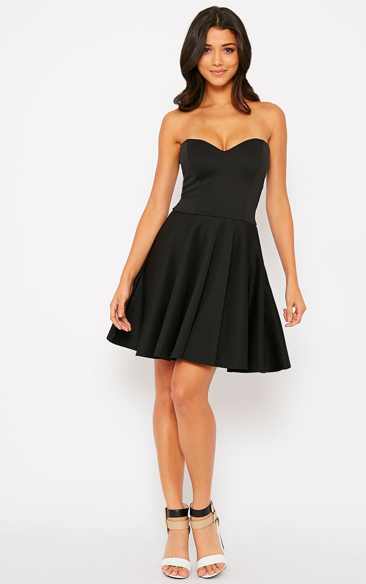 Marissa Black Strapless Skater Dress 3