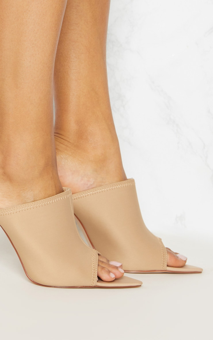 Taupe Extreme Point Mule  5