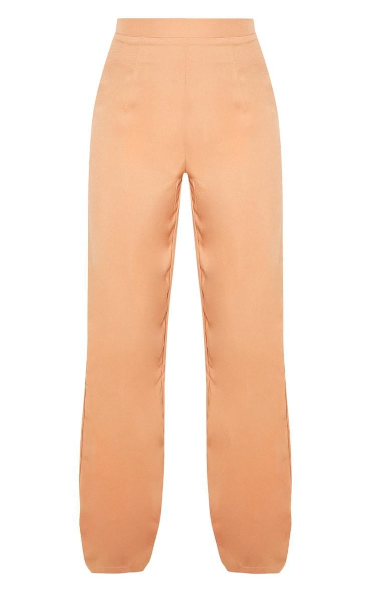 Pantalon à plis ample camel 3