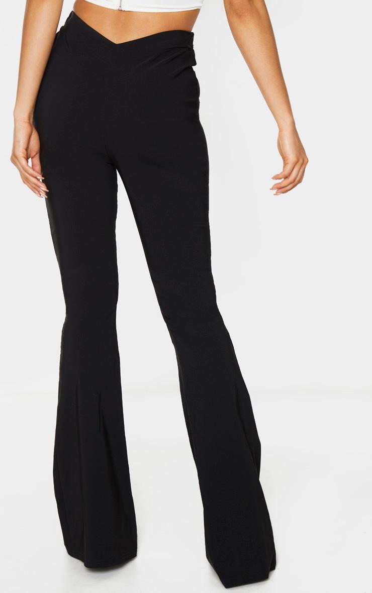 Tall Black Low Back Waist Wide Leg Flares 3