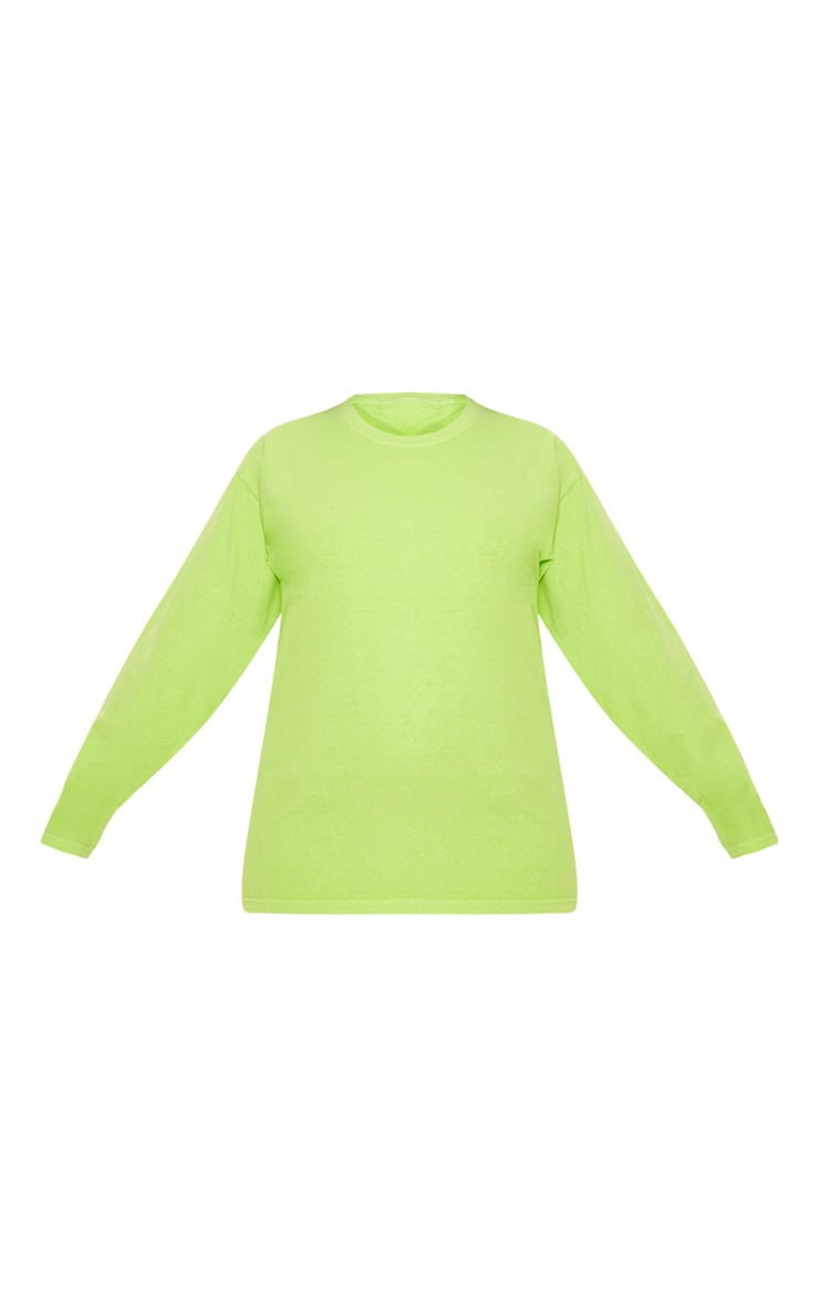 Plus Neon Lime Long Sleeve T-Shirt 3