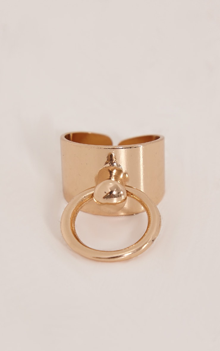 Deana Gold Adjustable Ring 2