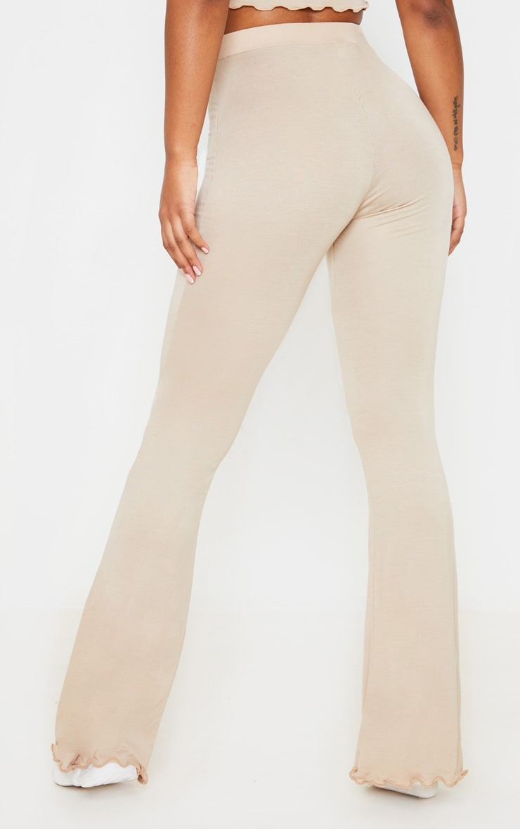 Stone Jersey High Waist Frill Edge Flared Trouser 4