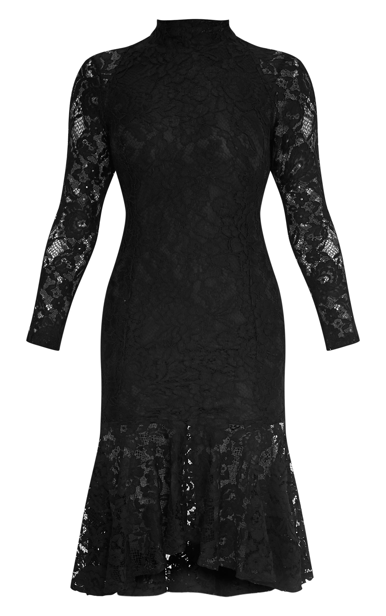 Ellina Premium robe midi noire queue de poisson 3