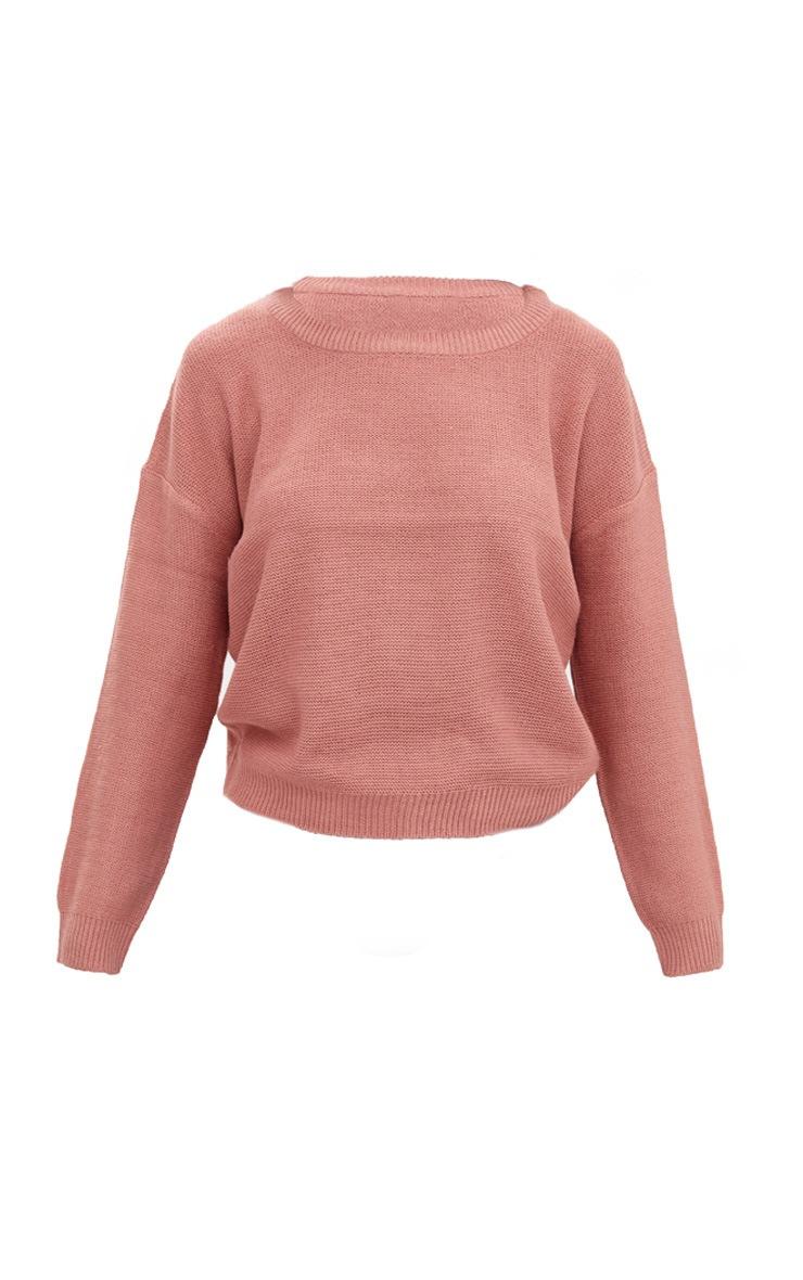 Pink Boxy Basic Jumper 3