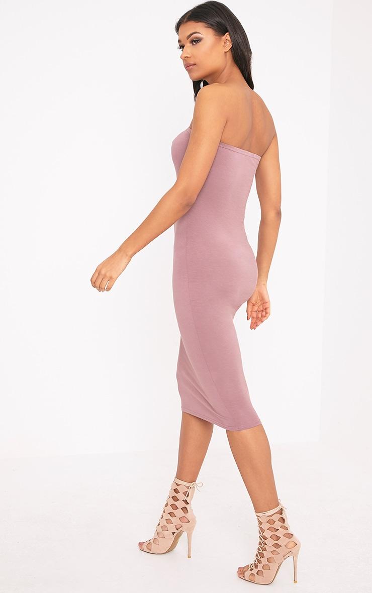 Basic Truffle Jersey Bandeau Midi Dress  2