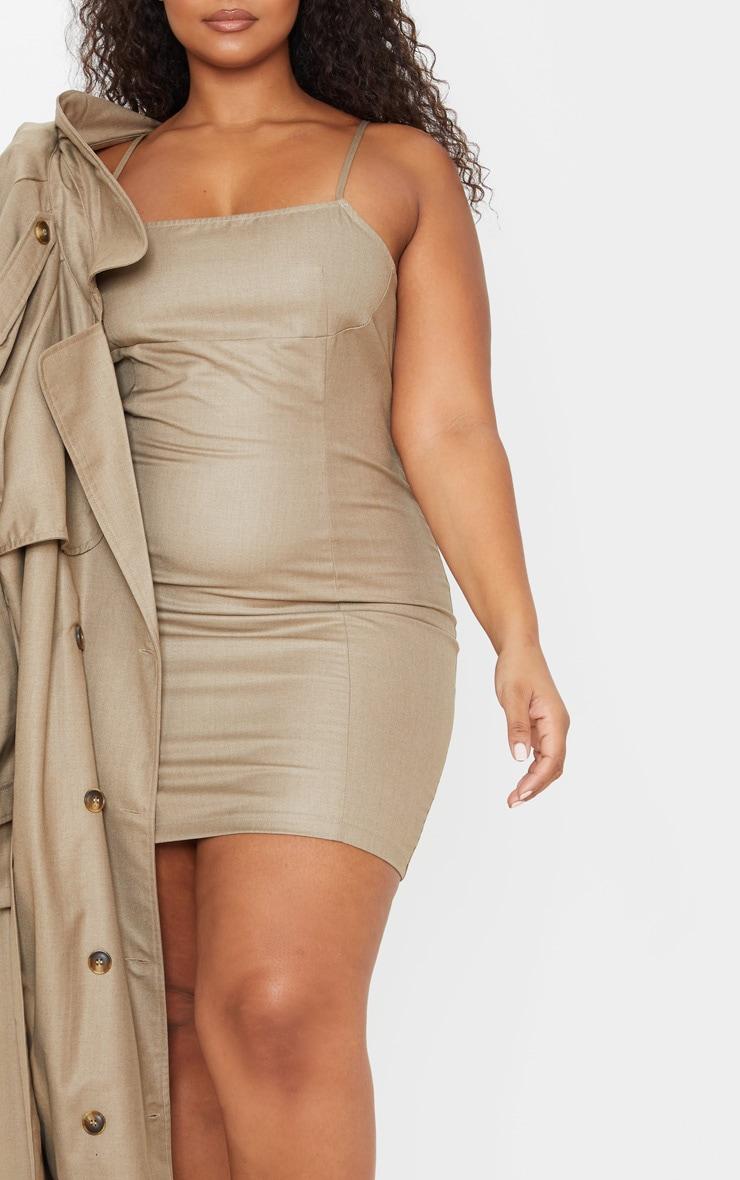 Plus Stone Strappy Seam Detail Bodycon Dress 5