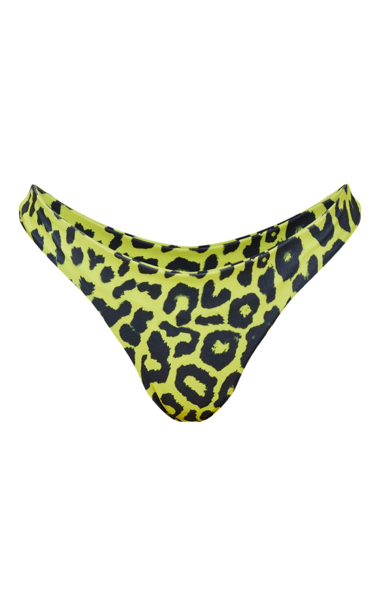 Lime Cheetah Brazilian Thong Bikini Bottom 3